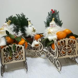 новогодняя композиция с мандаринками